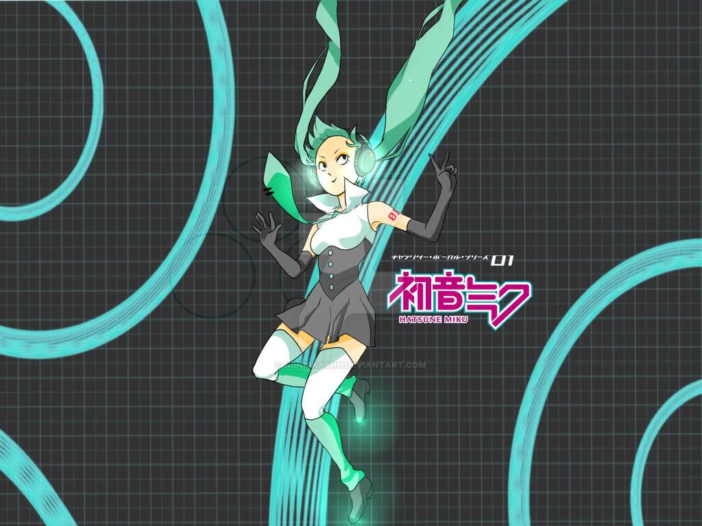 Hatsune Miku - Print by Niinkikashu