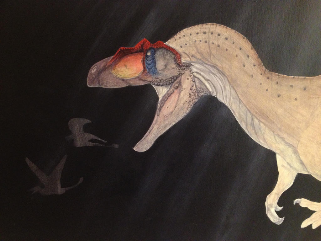 WIP: Allosaurus and Campylognathoides by Raven-and-Fox