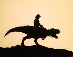 Silhouette 2: Real Men Ride Dinosaurs by Raven-and-Fox