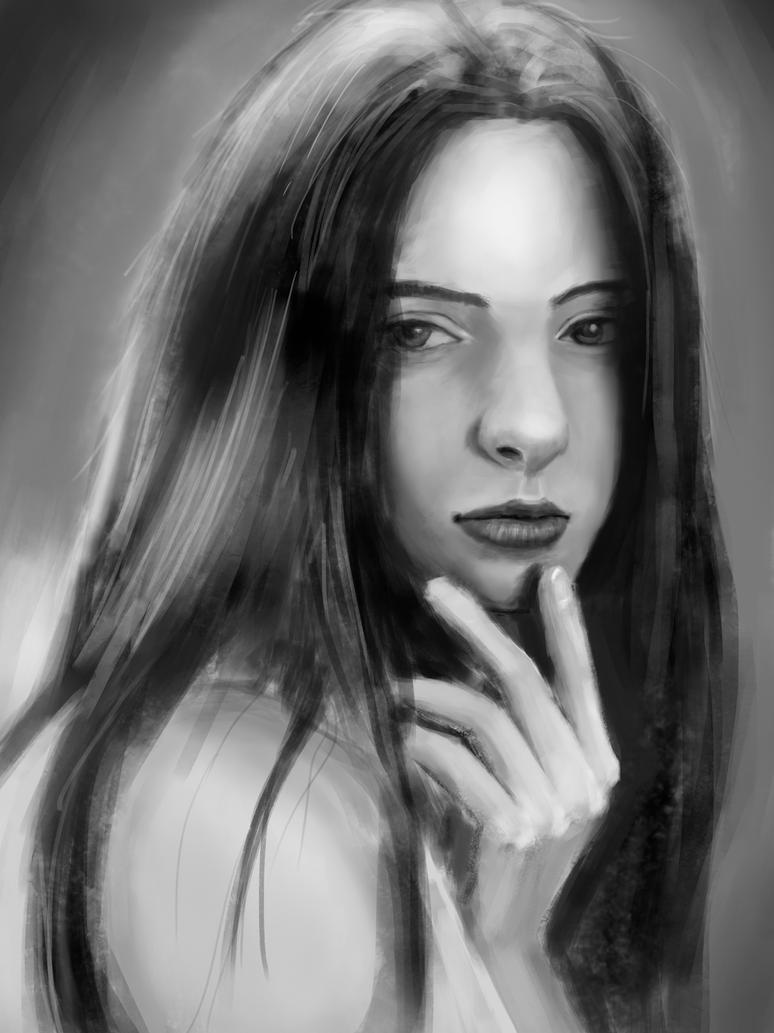 Portrait study 2 by sondao3009