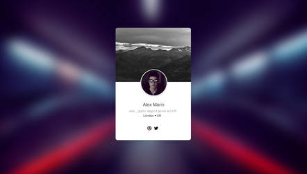 Profile Widget by alexdesigns
