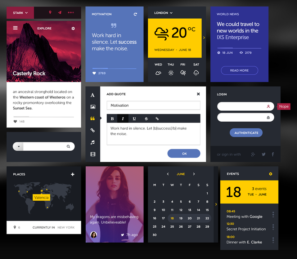 UI Kit II by alexdesigns