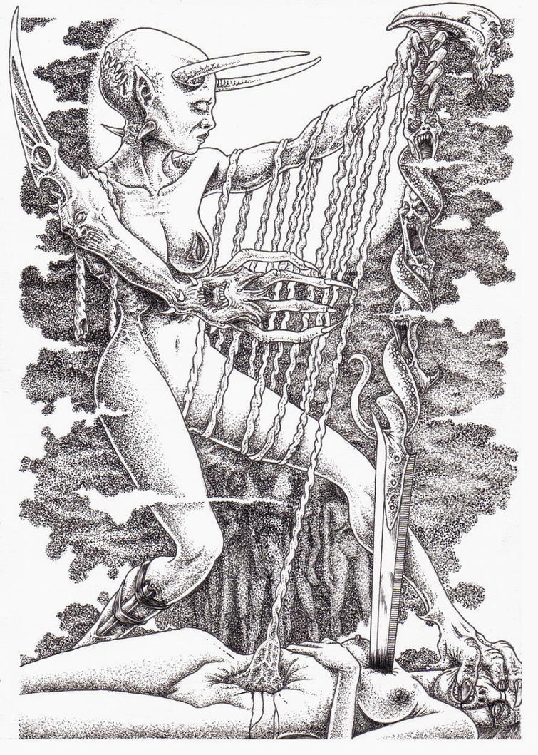 The Harpist by zamoth