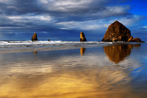 Haystack Rock, I by coulombic