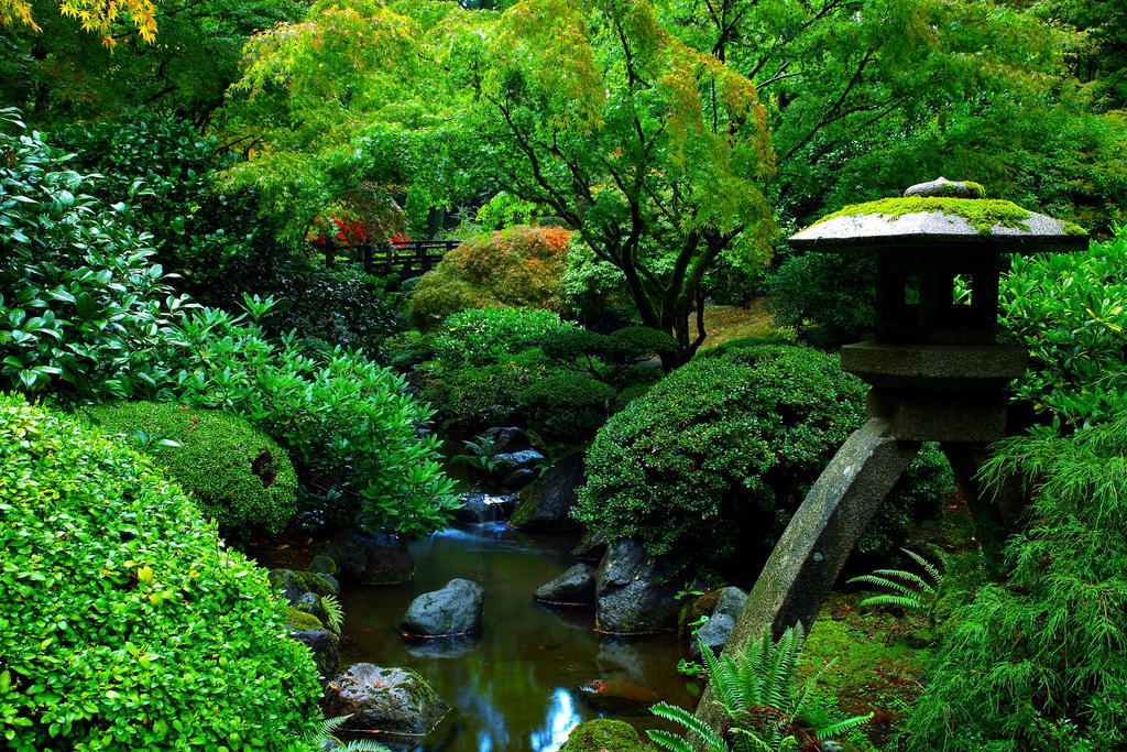 Portland Japanese Garden By Coulombic On Deviantart