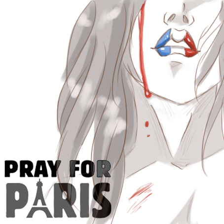 pray for paris by Holicdraw34