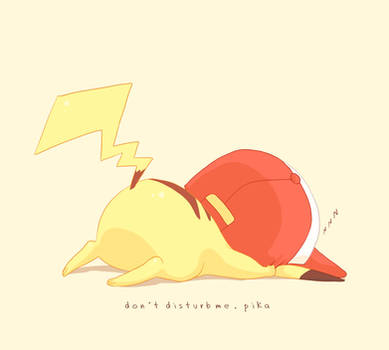 don't disturb me,pika
