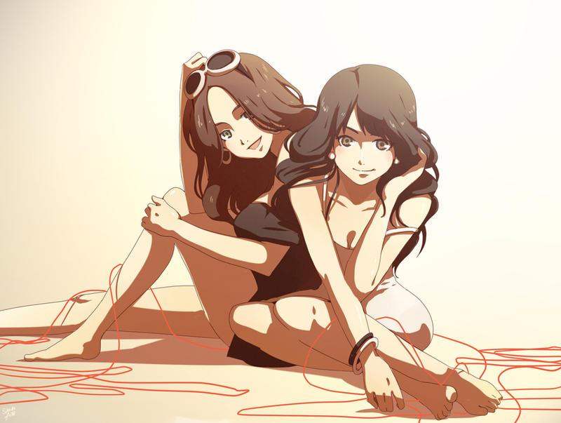 Commission - Shyla and Jelena by moremindmel0dy