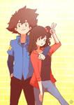 COMMISSION - Ryoko and Taichi