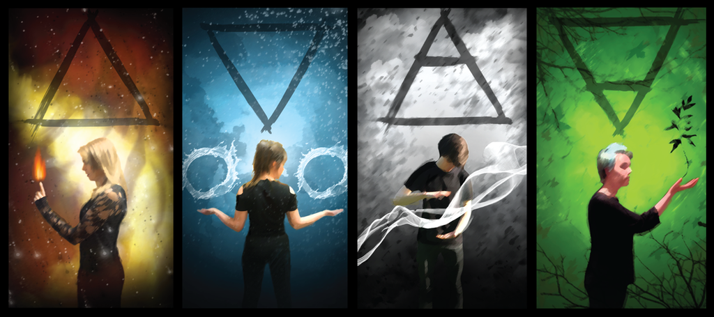 The Four Elements. by BethFoxcroft on DeviantArt