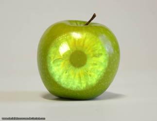 Eye of my apple by daniellekoorevaar
