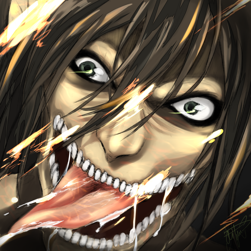 Shingeki no Kyojin - Eren (Titan form) by Aifumi on DeviantArt