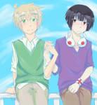 asakiku :: this is awkward // art trade