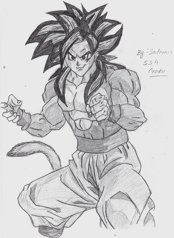 super saiyan goku 100. Super Saiyan 4 goku drawing by ~StaticFOOL100 on deviantART