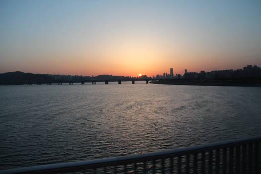 Seoul's Sunset Skyline
