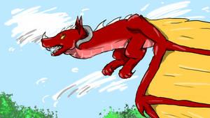 Dragon Of Red Hues
