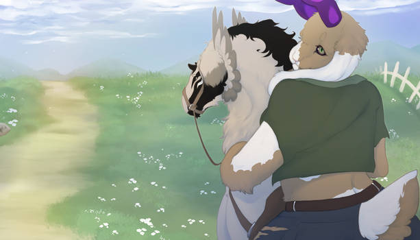 Mewna and Tempest on a journey