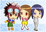 Daisuke, Hikari, Ken