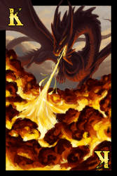 Dragon Cards- Fire King