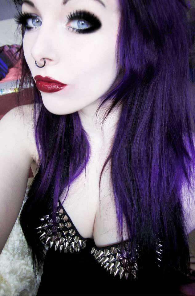 ira vampira purple hair studded bra by IraVampira88 on ... Dirty Blonde Hairstyles 2013