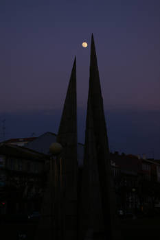 Piramids at night
