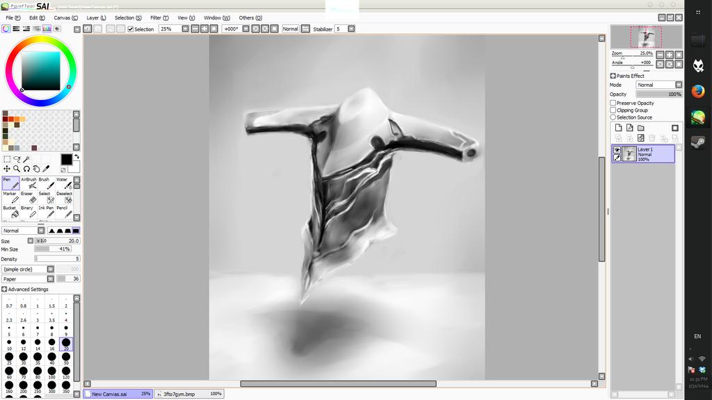 3d Sculpting Warframe Loki On Paint Tool Sai By Zeradok On