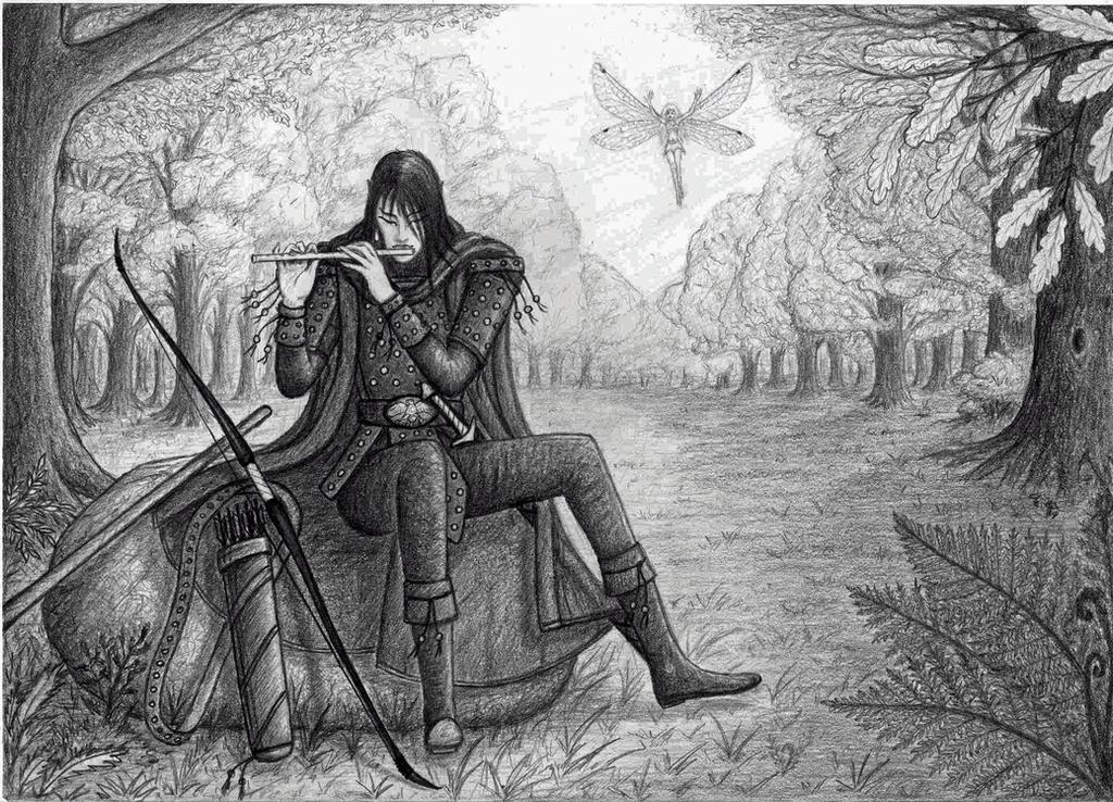 Elf - ranger with fairy - companion