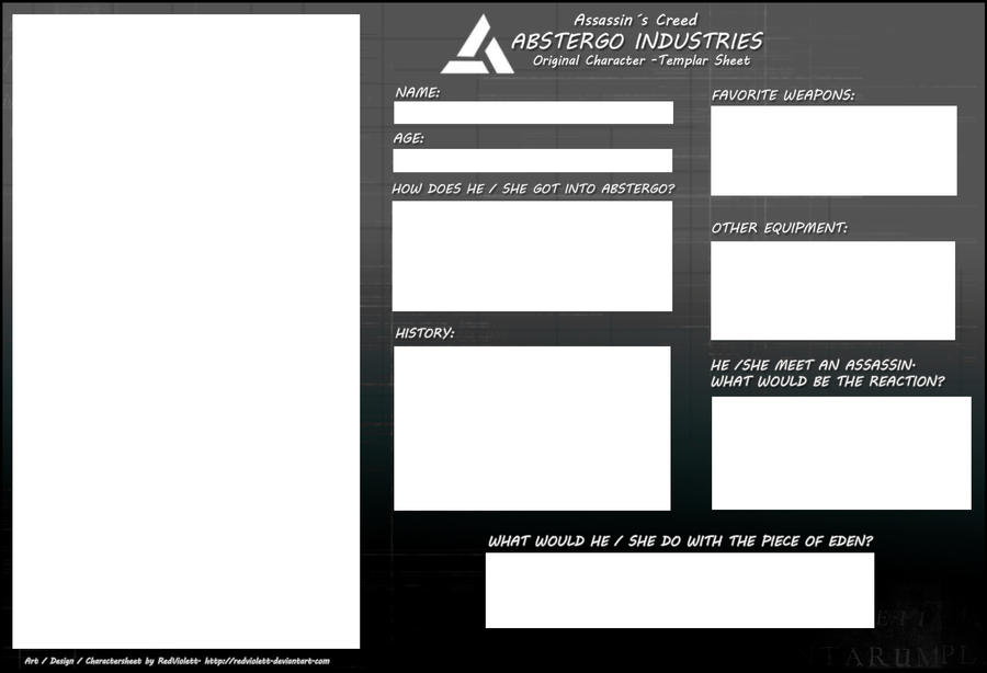 AC - Templar Charactersheet by RedViolett
