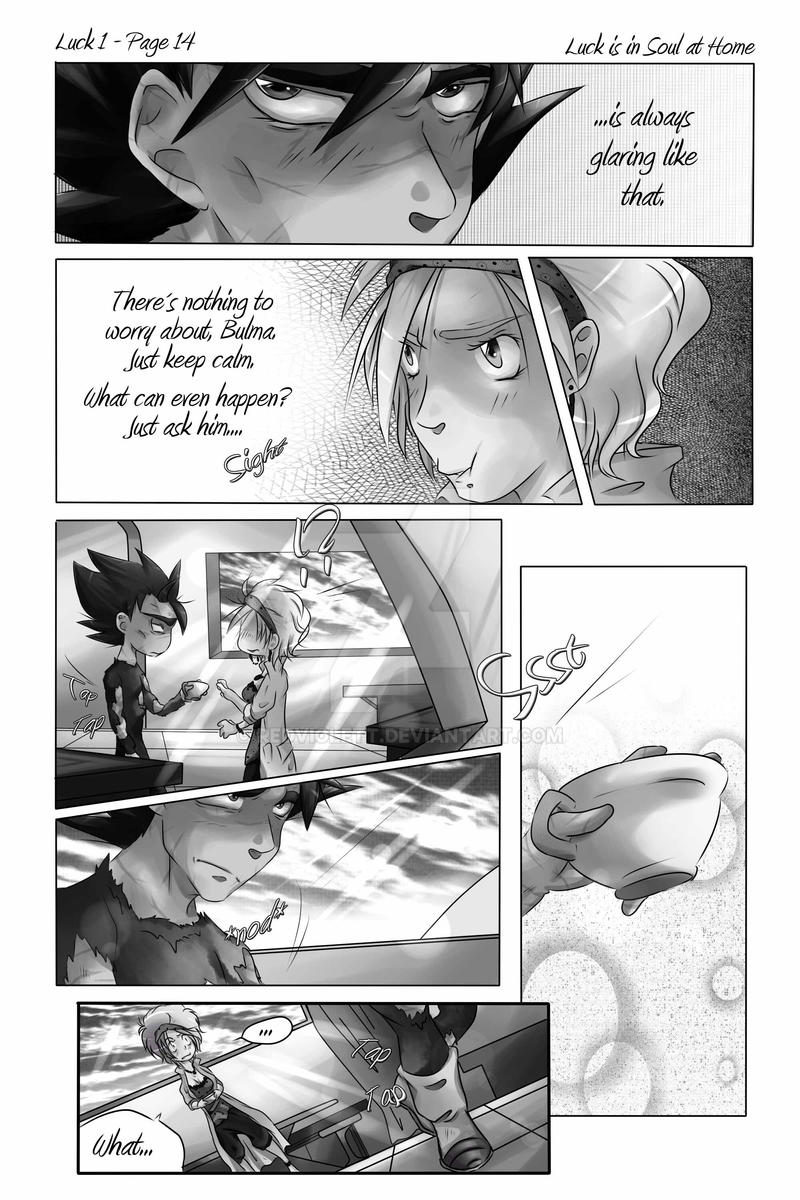 DBZ - Luck is in Soul at home - Luck 1 Page 14 by RedViolett