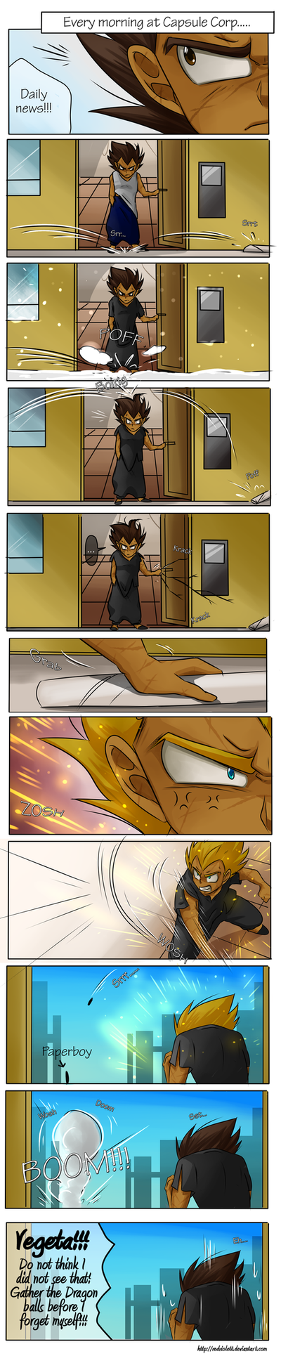 DBZ - Evey Morning [Silly Comics] Part 1 by RedViolett