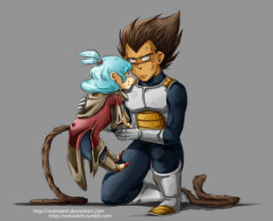 DBZ - Father and Daughter by RedViolett