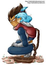 DBZ - Suprised Hug by RedViolett