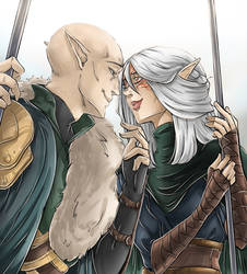 Dragon Age Inquisition: Solavellan - My heart by RedViolett