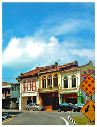 malacca old building by monkkey