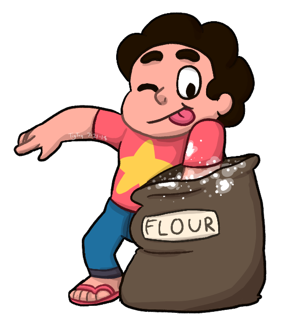 """You're like sugar and flour, I love eating them separately but I still want cake!"" -=-=-=-=- Y'know what Steven? If you like flour go ahead and eat it XD I'm not gonna-  but if this show had ..."