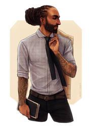 Dude with Rad Hair by Naimly