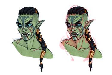 Tika'aneh - Skyrim - Orc Dragonborn - OC