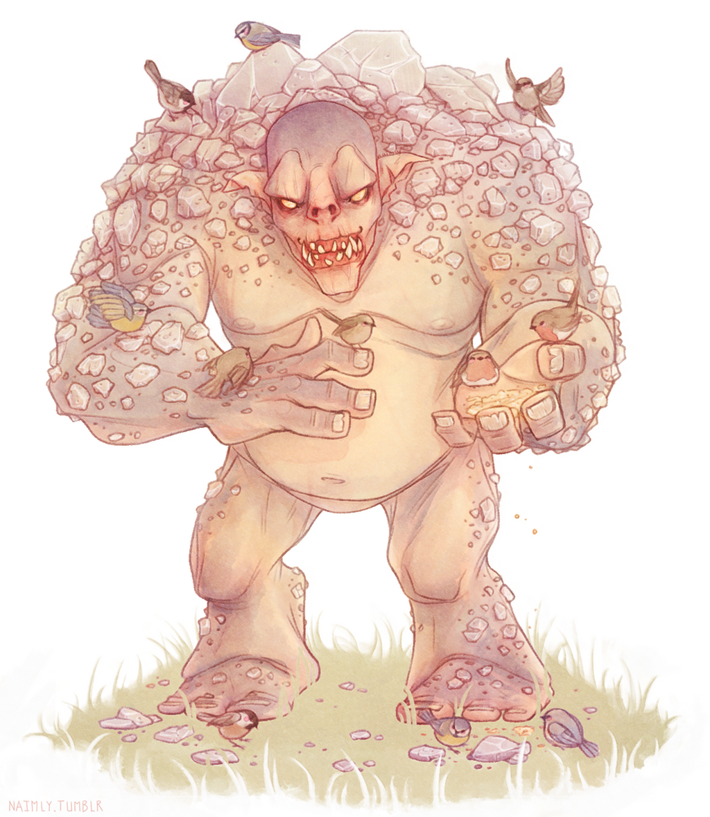 Bart - The Witcher 3 Wild Hunt Rock Troll by Naimly