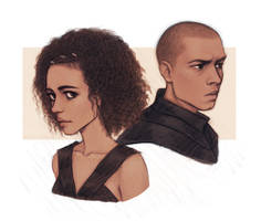 Missandei and Grey Worm - Game of Thrones :o) by Naimly