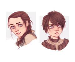 Arya Stark - Game of Thrones by Naimly