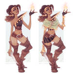 Fire Sorcerer OC Dungeons and Dragons