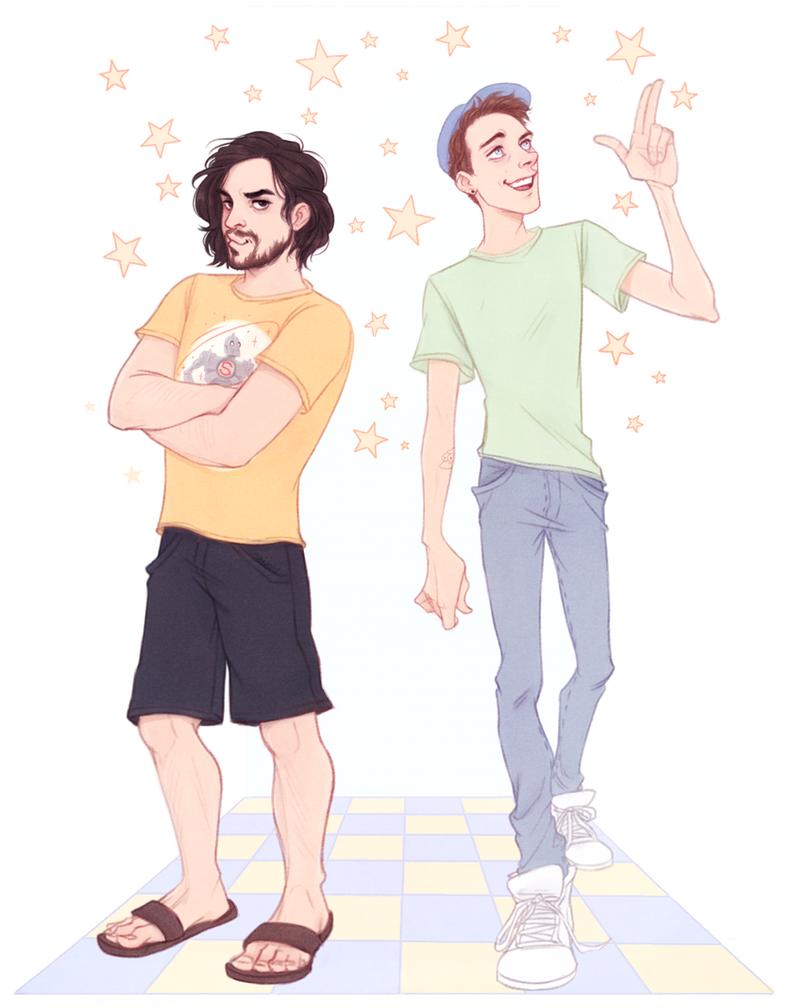 SuperMega Ryan Magee and Matt Watson by Naimly