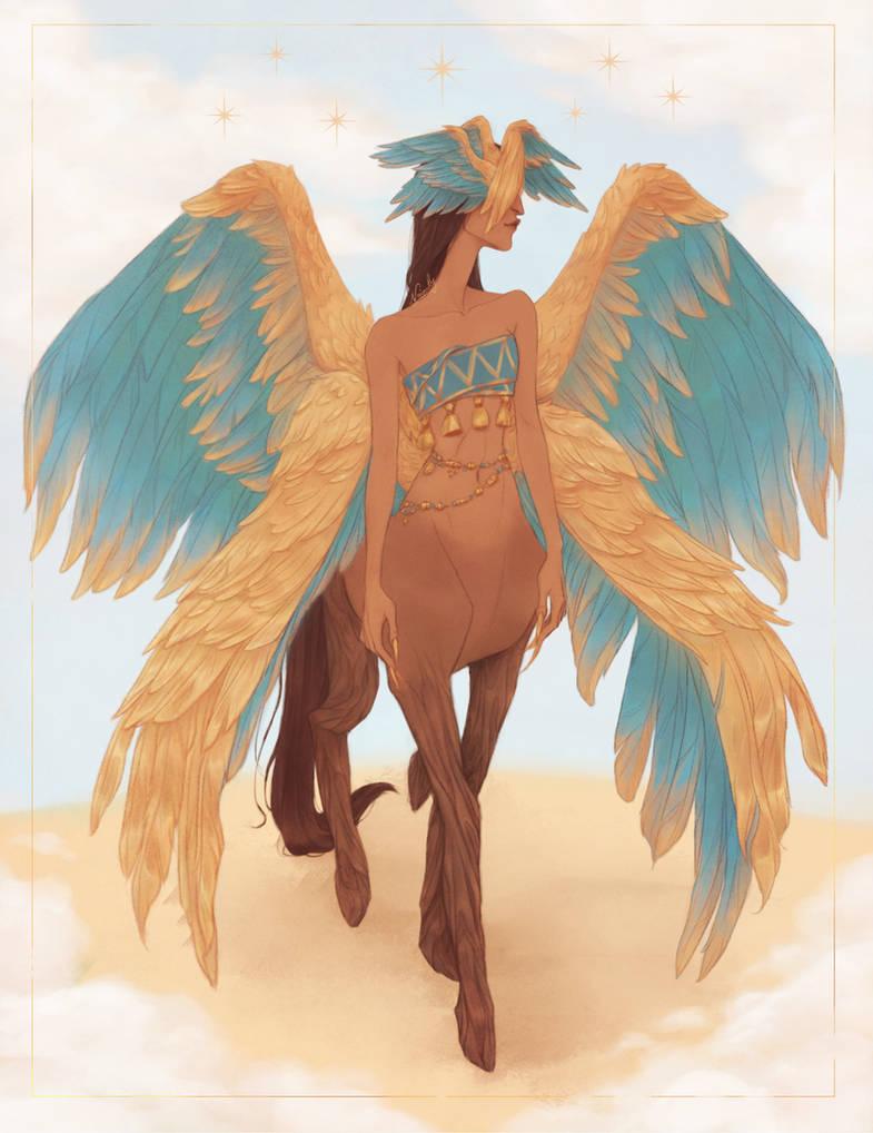 bird lady centaur thing I guess by Naimly