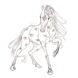 Pupil Pony Sketch :) by Naimly