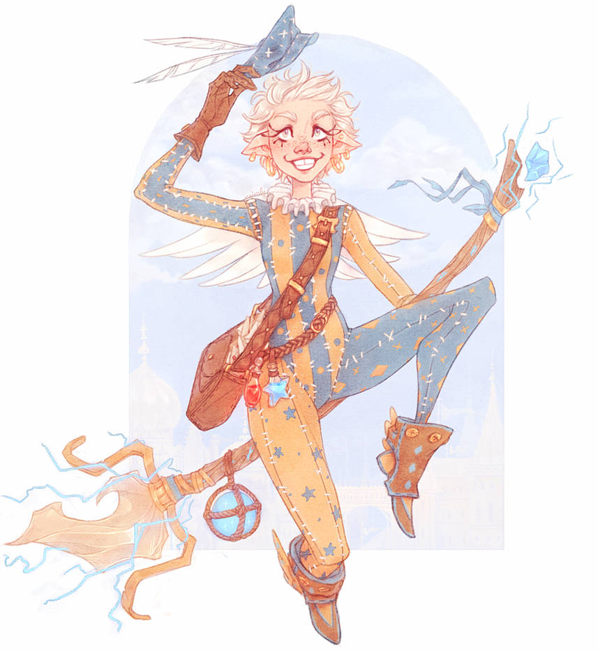 Electric Elf Witch Broomstick Delivery! by Naimly