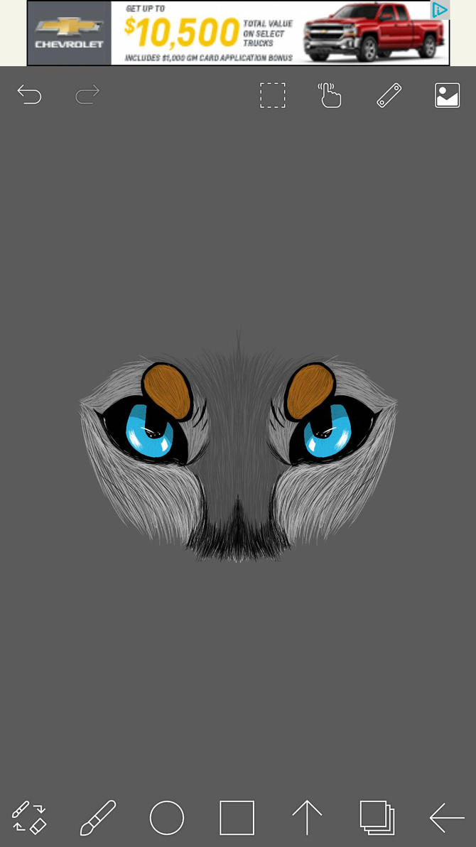 wolf eyes!! by ginger34