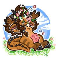 flower cow'n