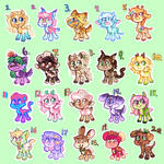 [open! 8/20] adopts to help with rent :3 by MightbeBianca