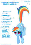 Rainbow Dash Cutout (COLOUR VERSION)