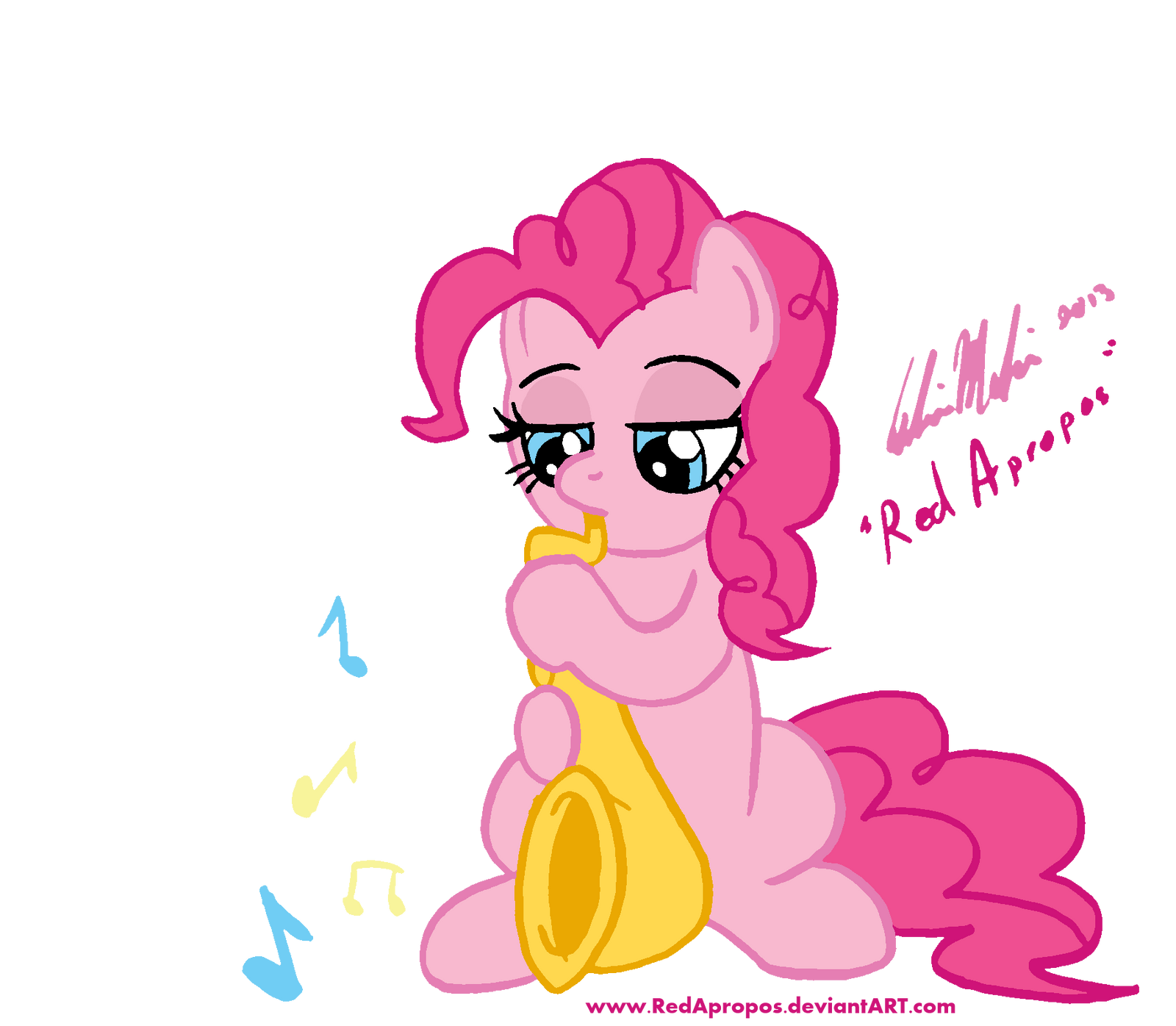 Pinkie the Saxopone by RedApropos